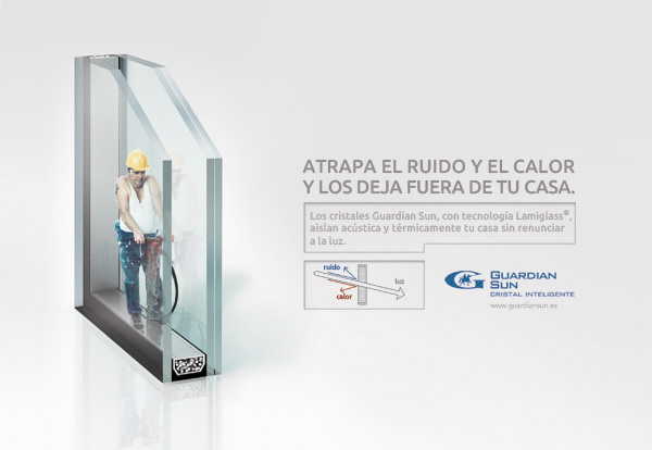 Aluminios garcilaso informaci n guardian sun ac stico for Aislamiento acustico vidrio