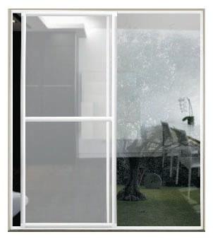 Aluminios garcilaso productos mosquitera corredera - Marco puerta corredera ...