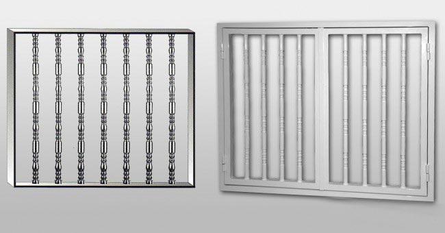 Aluminios garcilaso productos rejas fijas y practicables modelo ornamental carpinter a de - Rejas de aluminio ...
