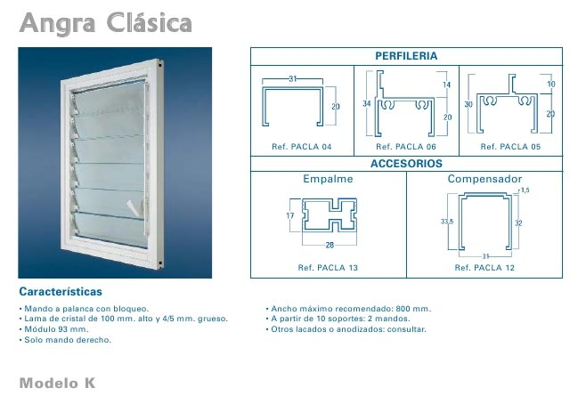 Aluminios garcilaso productos ventana de aluminio for Medidas de ventanas de aluminio para bano